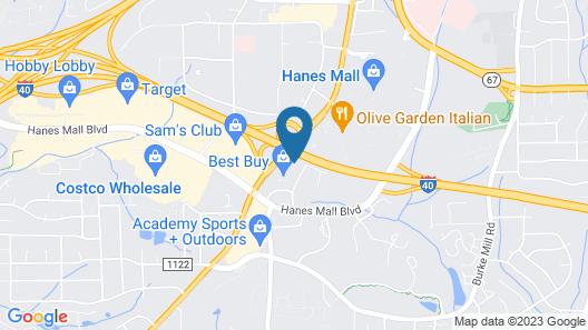 Hampton Inn Winston-Salem Hanes Mall Map
