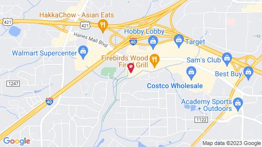 Hilton Garden Inn Winston-Salem/Hanes Mall Map