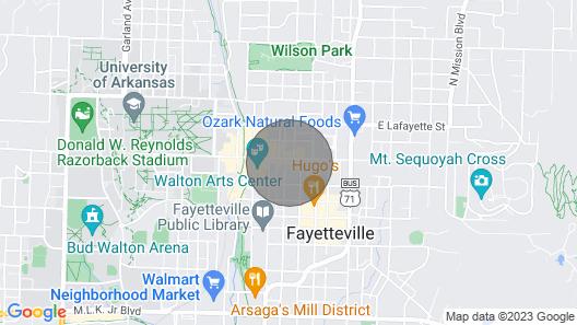 Dickson St Condo - On Dickson Street - Fayetteville Entertainment Hub Map