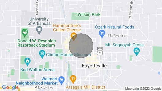 Historic Dickson Street Inn In the Heart of Downtown Fayetteville, Arkansas! Map