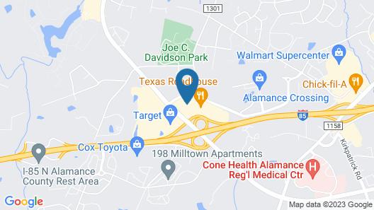 Drury Inn & Suites Burlington Map