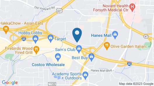Fairfield Inn & Suites by Marriott Winston-Salem Hanes Mall Map