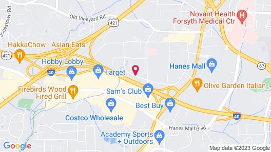 Courtyard by Marriott Winston-Salem Hanes Mall Map