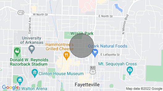 Park Place Cottage - Walk to U of A - Quiet Fayetteville Getaway Map