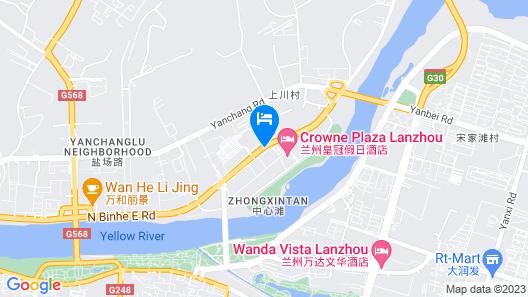 Crowne Plaza Lanzhou Map