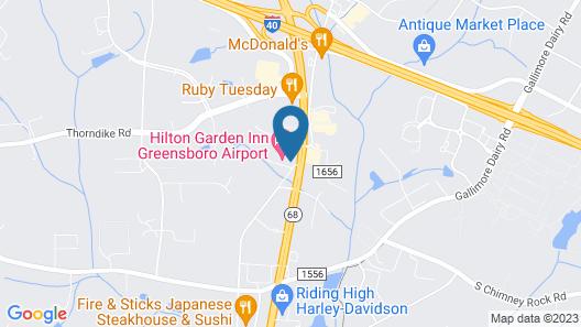 Hilton Garden Inn Greensboro Airport Map