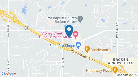 Holiday Inn Express Tulsa S Broken Arrow Hwy 51, an IHG Hotel Map