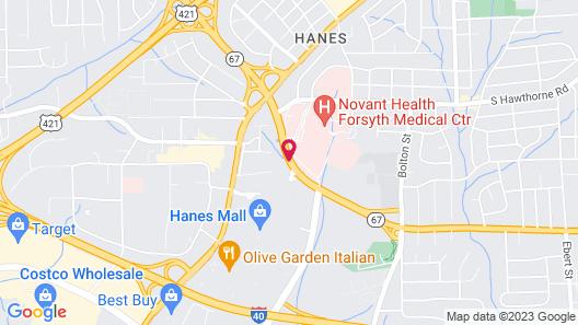Best Western Plus Hanes Mall Hotel Map