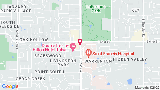 DoubleTree by Hilton Tulsa - Warren Place Map