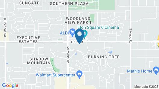 OYO Townhouse Tulsa Woodland Hills Map