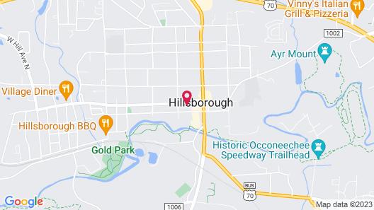 The Colonial Inn-Hillsborough Map