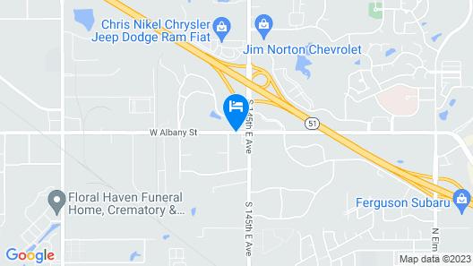 Hampton Inn Tulsa Broken Arrow Map