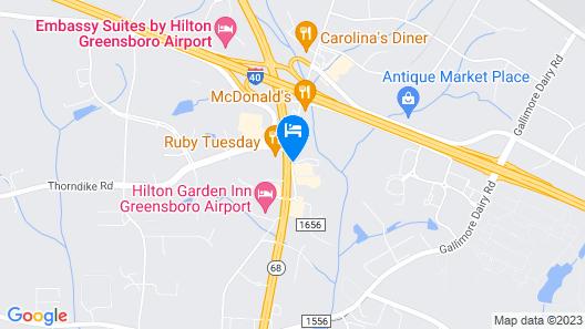 Red Roof Inn Greensboro Airport Map