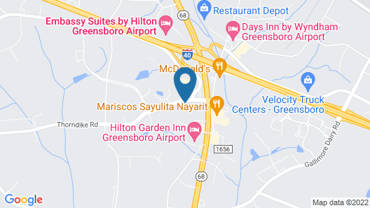 MainStay Suites Greensboro Map