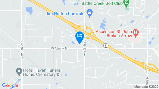 Quality Inn Broken Arrow - Tulsa Map