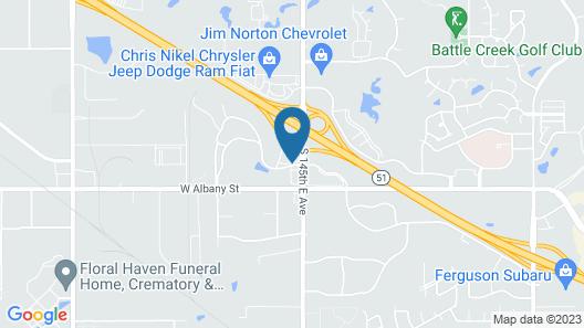 Clarion Hotel Broken Arrow - Tulsa Map