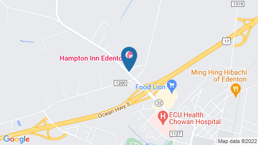 Hampton Inn Edenton Map
