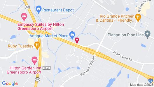 Holiday Inn Greensboro Airport, an IHG Hotel Map