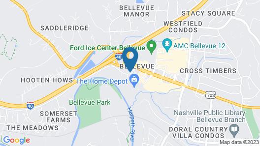 Hampton Inn Bellevue-Nashville-I-40 West Map
