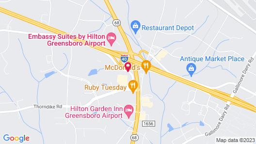 Courtyard Greensboro Airport Map