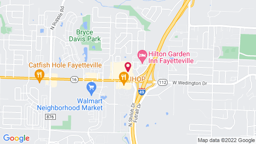Homewood Suites by Hilton Fayetteville Map