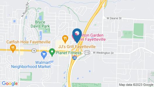 Holiday Inn Express Fayetteville- Univ of AR Area, an IHG Hotel Map