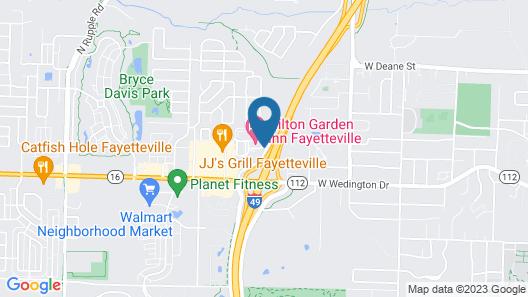 Hilton Garden Inn Fayettevile Map