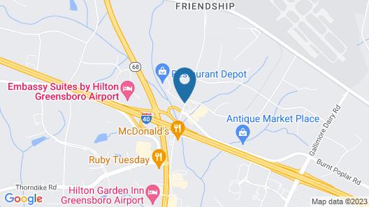 Days Inn by Wyndham Greensboro Airport Map