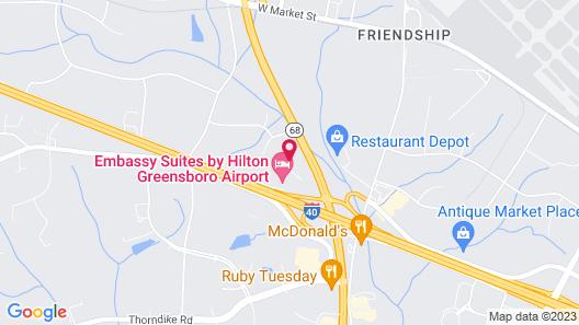 Embassy Suites Greensboro Airport Map