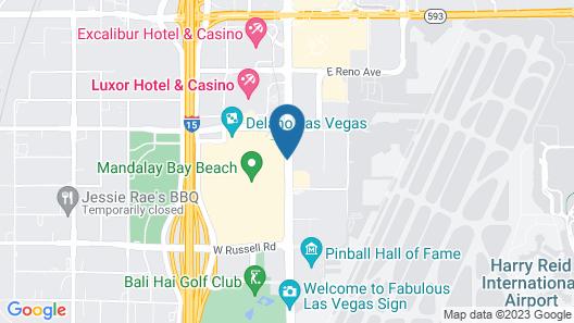 Delano Las Vegas at Mandalay Bay Map
