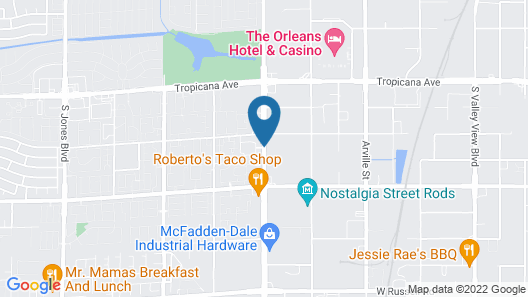 Desert Paradise Resort by Diamond Resorts Map