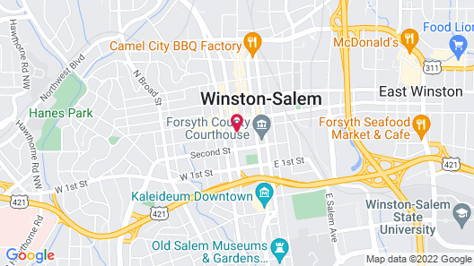 Hampton Inn & Suites Winston-Salem Downtown Map