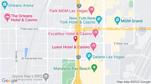 Motel 6 Las Vegas, NV - I-15 Map