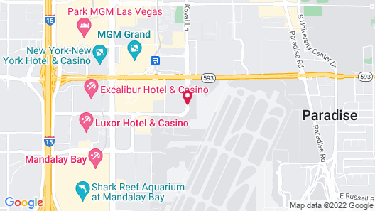 Travelodge by Wyndham Las Vegas Airport Near The Strip Map
