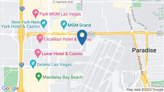 Travelodge by Wyndham Las Vegas Airport Near The Strip Map