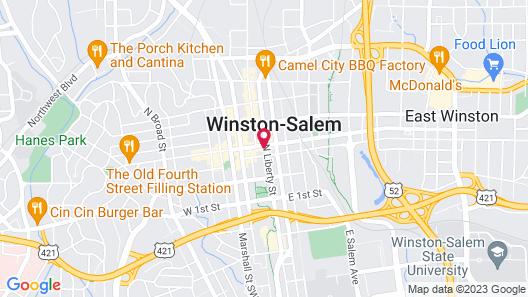 Hotel Indigo Winston-Salem Downtown, an IHG Hotel Map