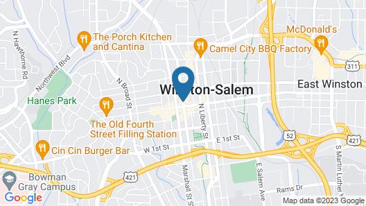Winston-Salem Marriott Map