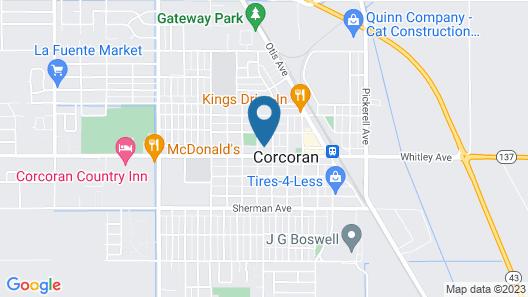 Budget Inn Motel Map