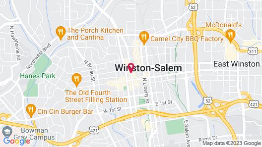 Embassy Suites Hotel Winston-Salem Map