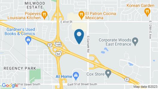 WoodSpring Suites Broken Arrow Map