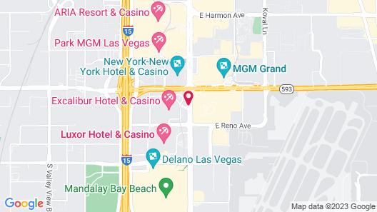 Excalibur Hotel & Casino Map