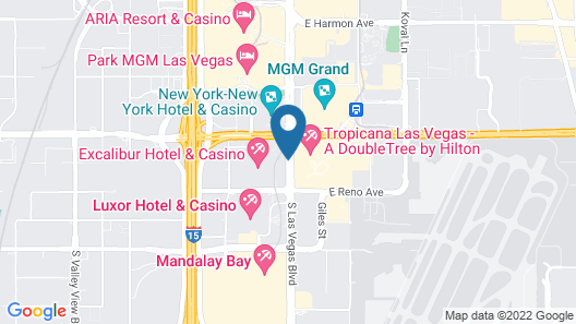 Excalibur Hotel & Casino Map