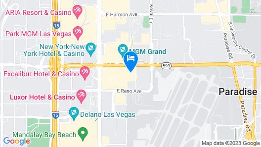 OYO Hotel and Casino Las Vegas Map
