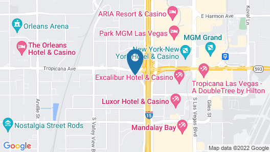 Hampton Inn Tropicana, NV Map
