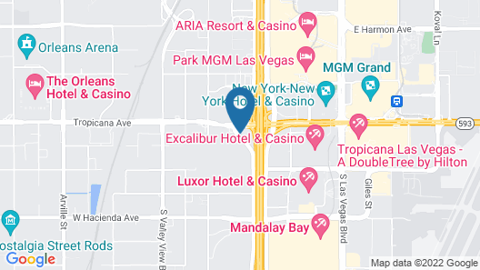 Home2 Suites by Hilton Las Vegas City Center Map