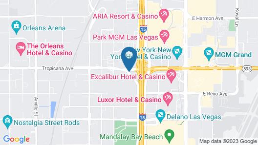 TownePlace Suites by Marriott Las Vegas City Center Map