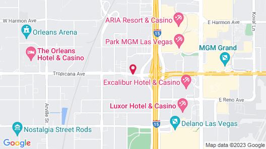 Days Inn by Wyndham Las Vegas Wild Wild West Gambling Hall Map