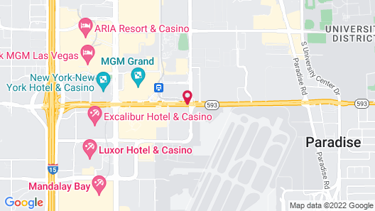 Motel 6 Las Vegas, NV - Tropicana Map