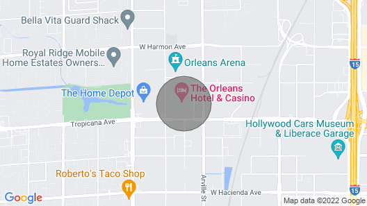 The Orleans Hotel & Casino Map