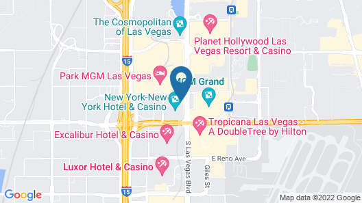 New York-New York Hotel & Casino Map